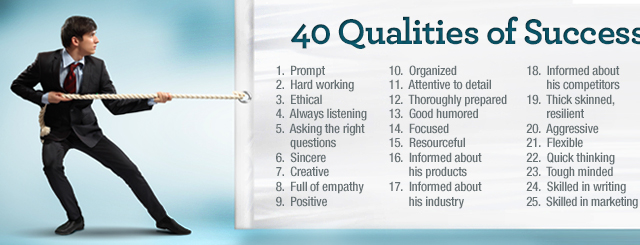 40 qualities of successful sales